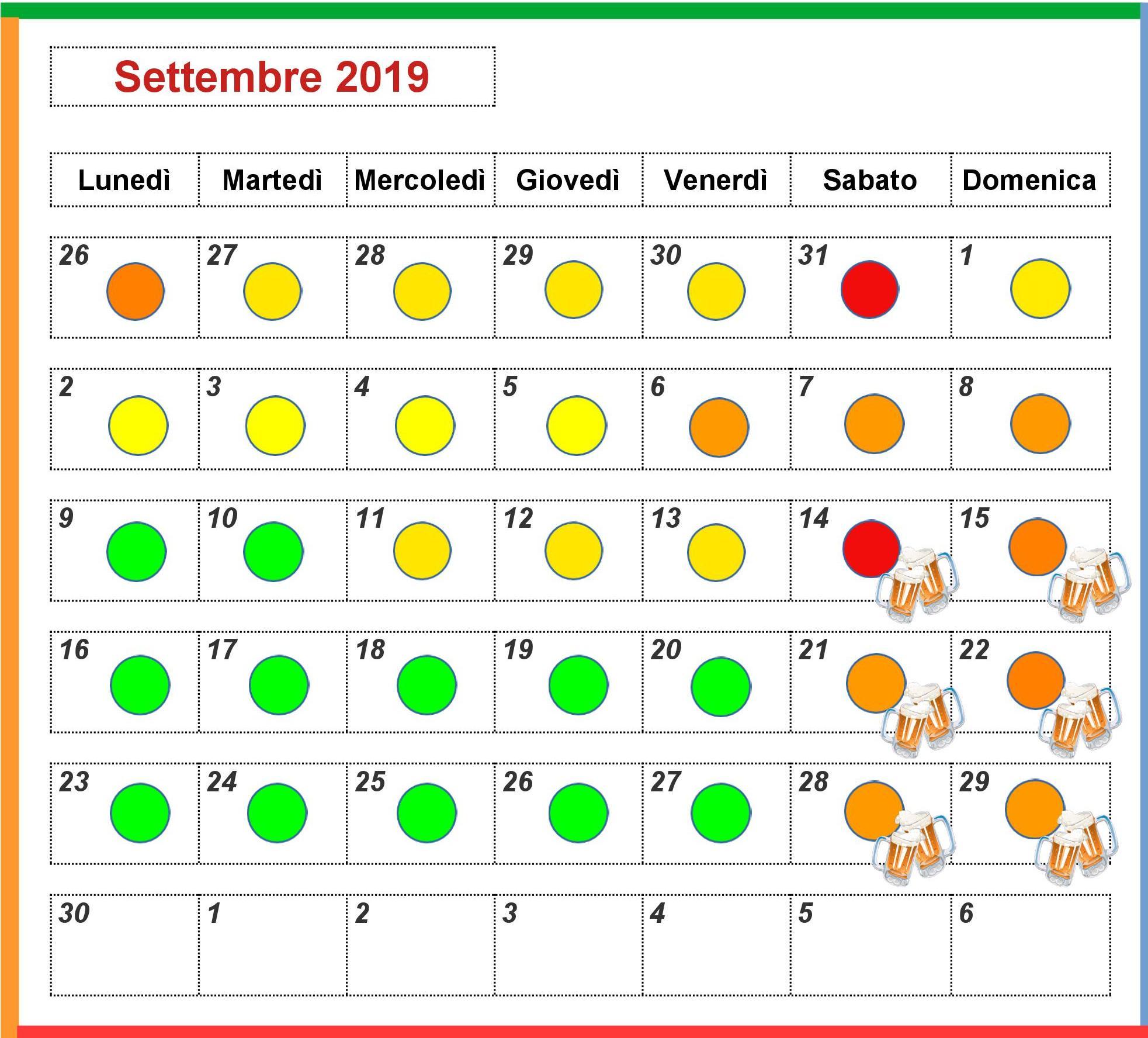 Previsioni Affluenza Movieland Settembre 2019